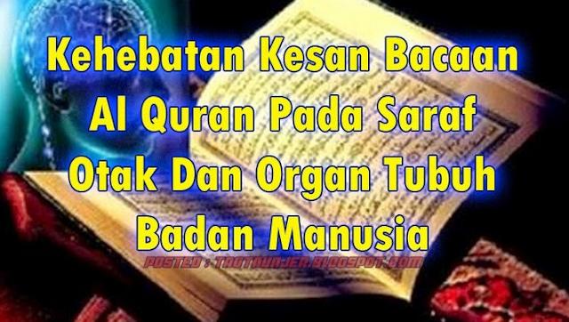 Tahukah Anda? Anda Ternyata Membaca Al-Qur'an Setelah Maghrib & Subuh Meningkatkan Kecerdasan Otak Sampai 80%