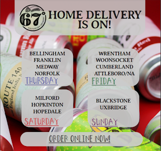67 Degrees Brewing HOME DELIVERY IS ON!!