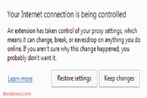 Cara Mengatasi Your Internet Being Controlled Google Chrome