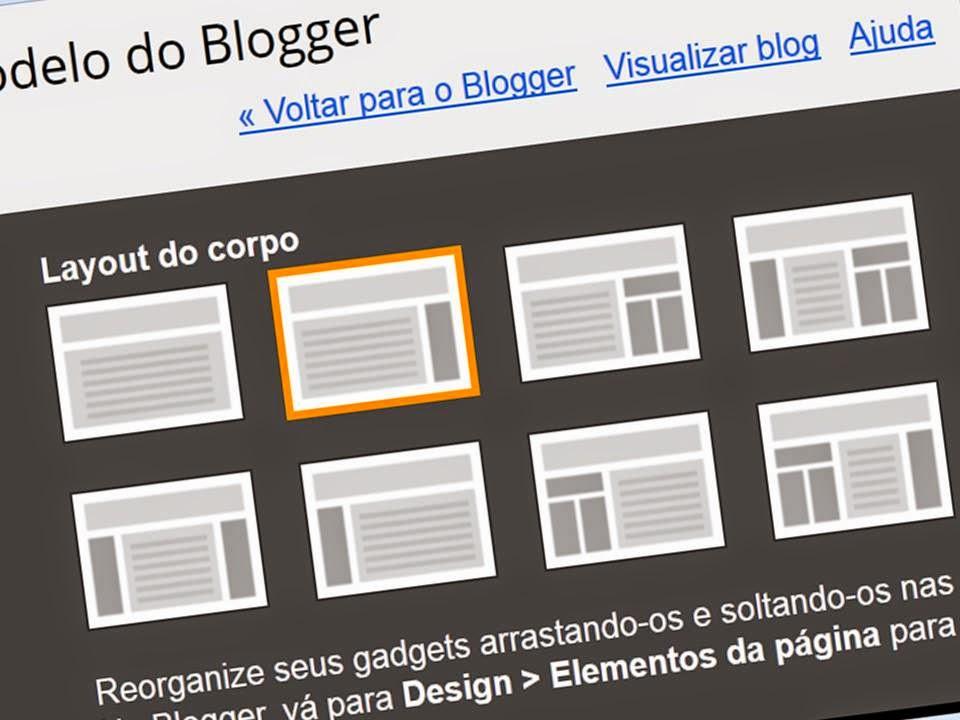 Escolher template para o Blogger