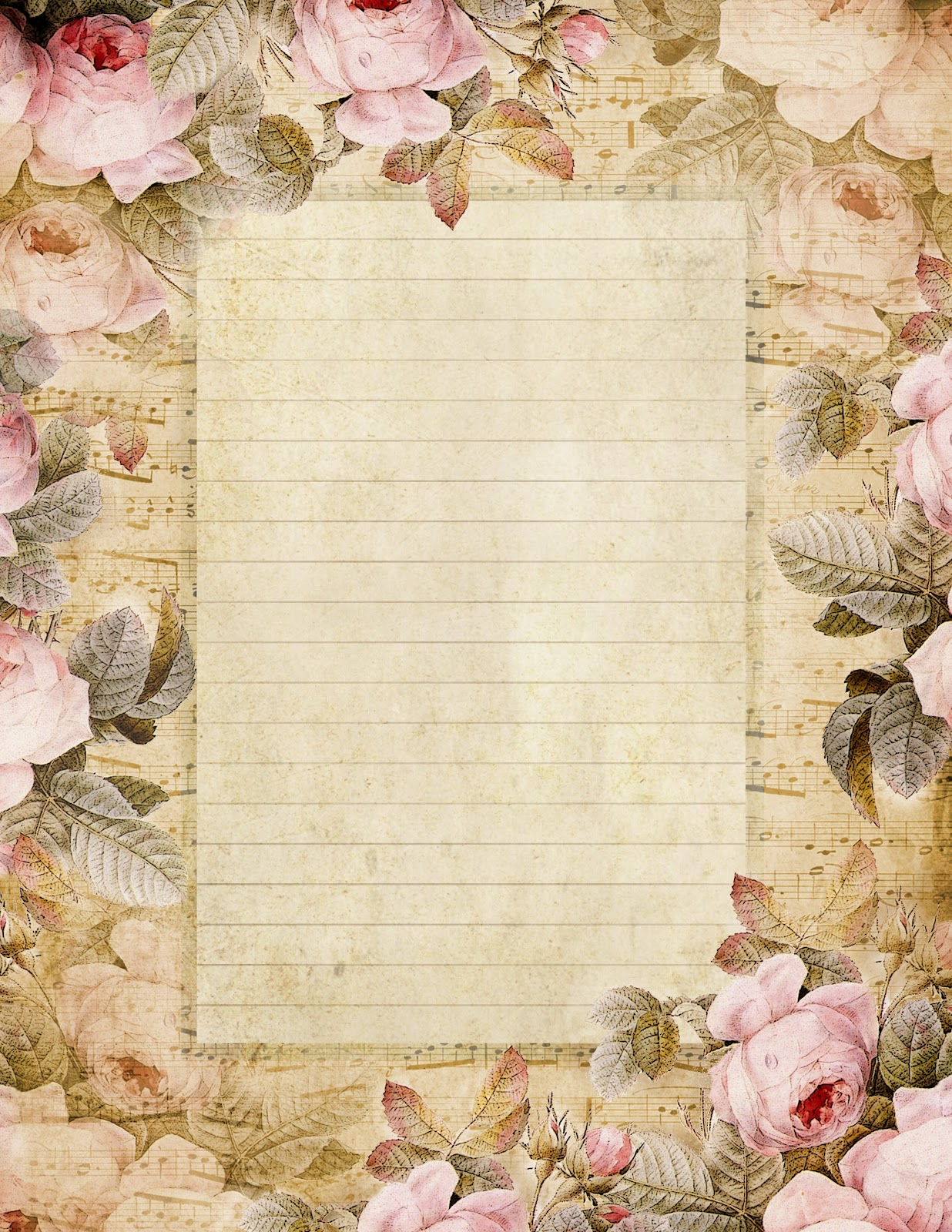 Decorated lined paper