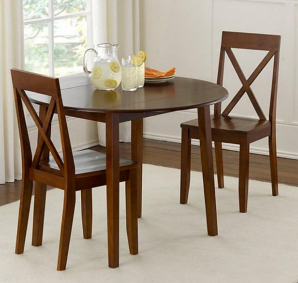 Model meja makan kayu 2 kursi minimalis - desain rumah idaman