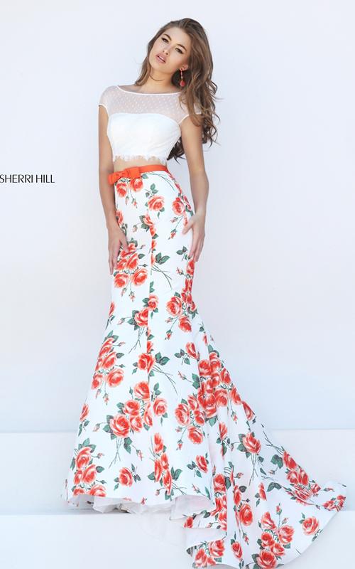 Sherri Hill Floral Prom Dress