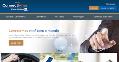 ConnectMiles: 4000 milhas grátis na Copa Airlines - passo 1