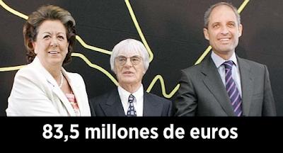 El Tribunal de Cuentas cifra en 83,5 millones el quebranto que Camps y la Fórmula 1 causaron a Valencia
