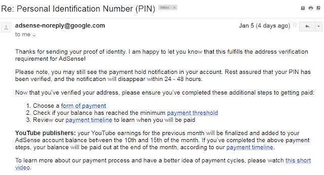Cara Verifikasi PIN Google Adsense Menggunakan KTP