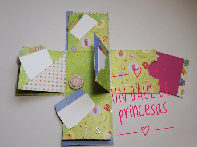 caja sorpresa de cumpleaños abierta