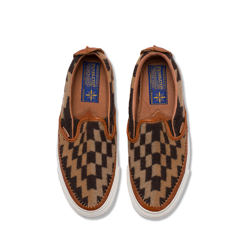 ff4445f9d6 The Slip In Americana  Vans Vault X Taka Hayashi Pendleton Saddle Slip-On  LX Sneakers