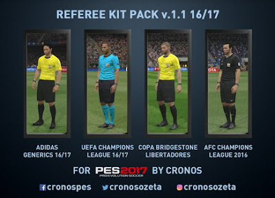 PES 2017 REFEREE KIT PACK v1.1 16/17 by Cronos