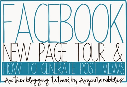 Take a tour of Facebook's new page layout & learn how to get your Facebook posts viewed. A tutorial from Anyonita Nibbles