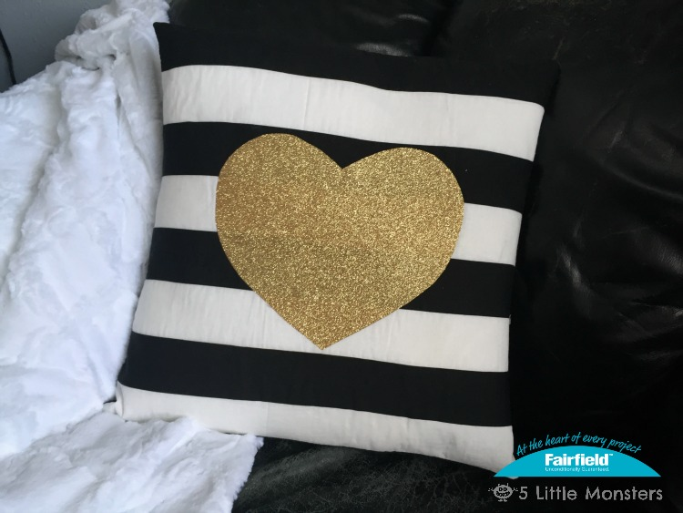 5 Little Monsters Black White And Gold Valentine Pillow