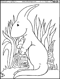 Cute Baby Parasaurolophus Coloring Sheet