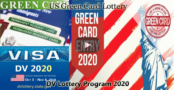 US Green Card Lottery - DV Lottery 2020