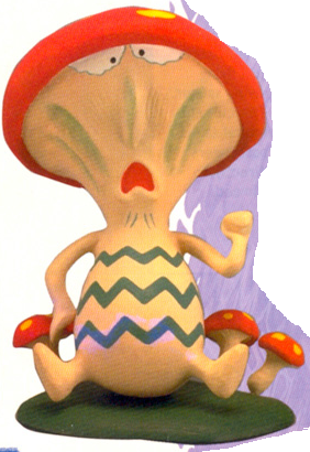 Shrooom! EarthBound mushroom fungus enemy official art artwork render Nintendo Power