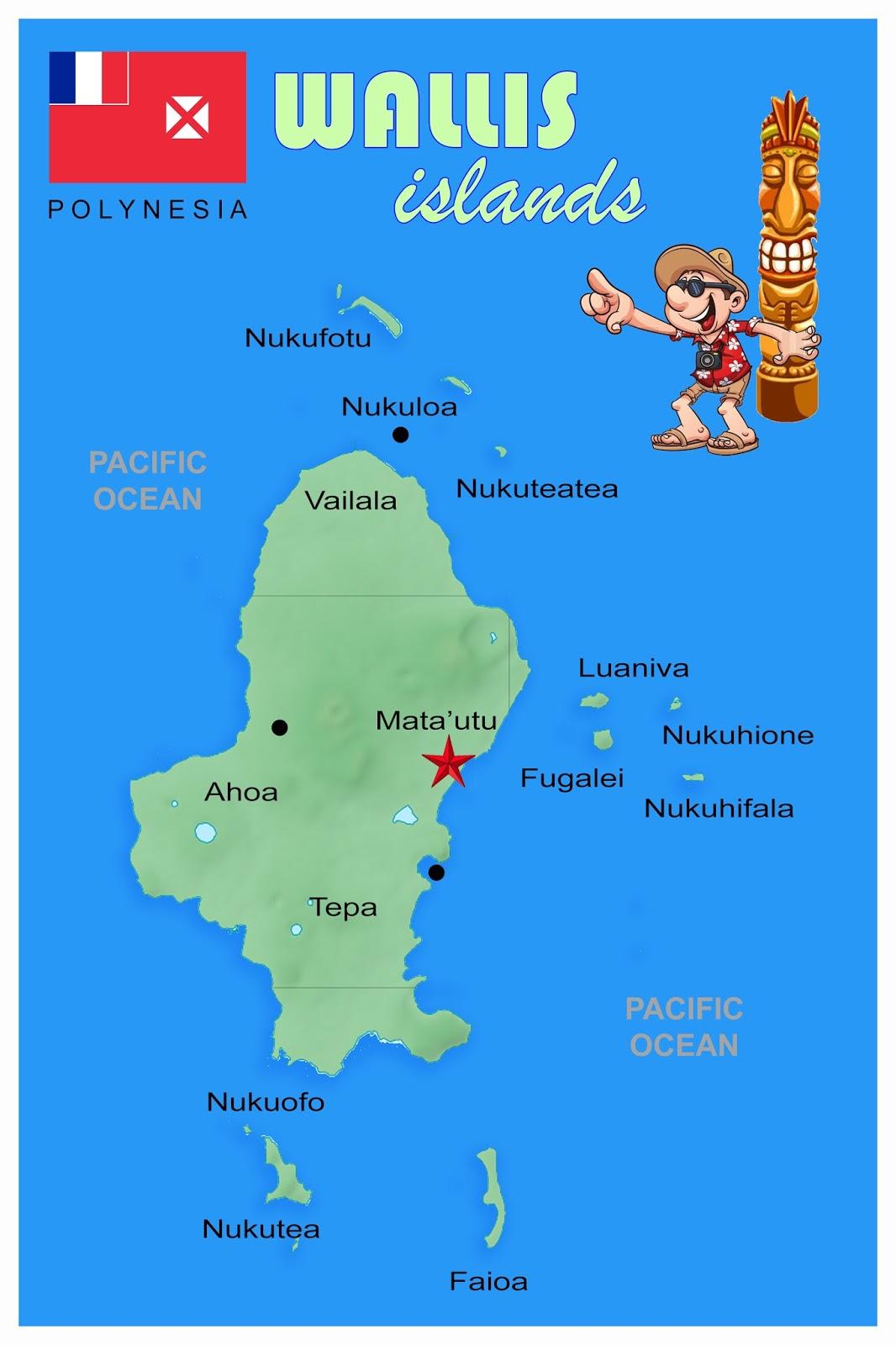 Postcards From My Mailbox Wallis And Futuna - Wallis and futuna map