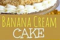 Banana Cream Cake Recipe