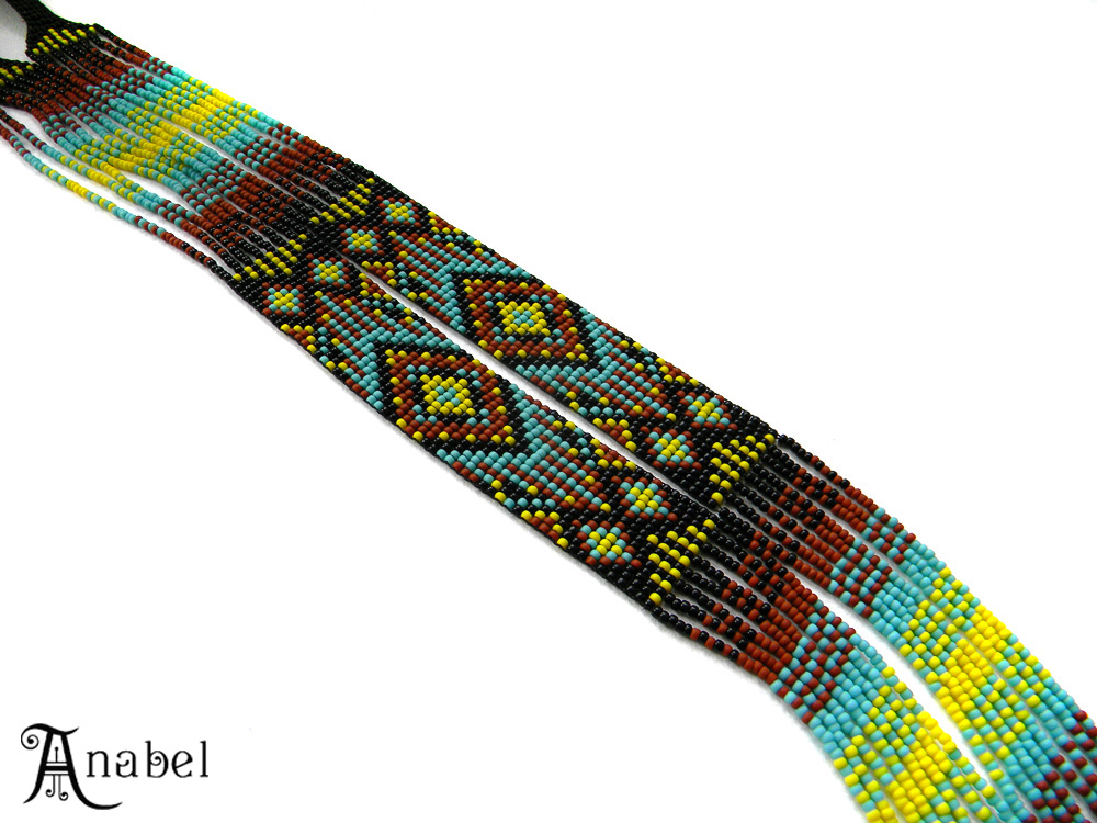 купить гердан гайтан из бисера яркое украшение в этническом стиле