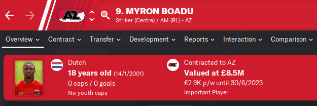 FM20 Wonderkid - Myron Boadu