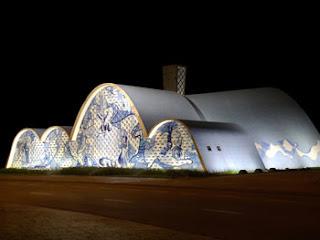Igreja de São Francisco de Assis no Conjunto Arquitetônico da Pampulha - Belo Horizonte - Minas Gerais - Brasil