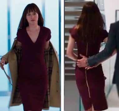 Cinquenta tons de Cinza vestido vermelho