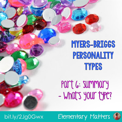 Myers-Briggs Part 6: What's Your Type?  This post is a summary of a 6 part series on the Myers-Briggs 16 personality types.