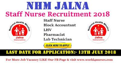 NHM Jalna Staff Nurse Recruitment 2018