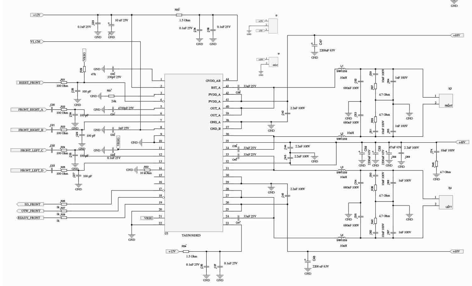 hight resolution of class d power amplifier circuit