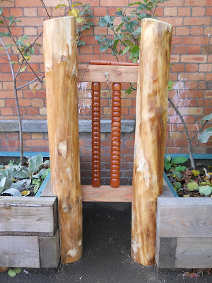 wooden playground instruments