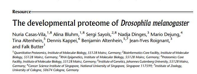 Drosophila research paper