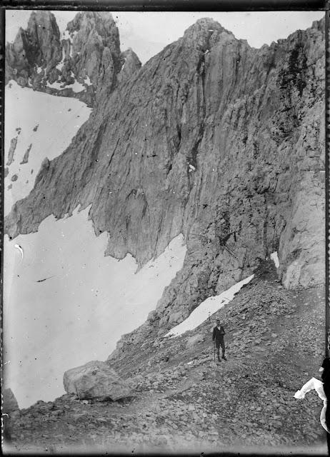 Blick auf die Dreitorspitze von der Meilerhütte aus - um 1910-1920