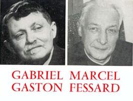 correspondance Gabriel Marcel Gaston Fessard