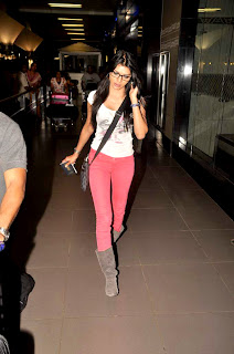 Spotted: Sherlyn Chopra at airport stills