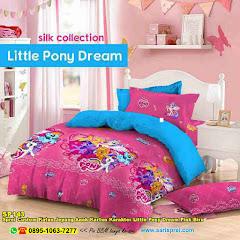 Sprei Custom Katun Jepang Anak Kartun Karakter Little Pony Dream Pink Biru