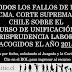 Todas las sentencias de Unificación de Jurisprudencia Laboral Acogidas en 2015