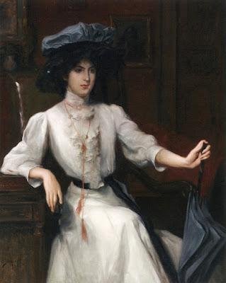 Julius LeBlanc Stewart - Portrait of a Woman