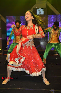 Bollywood Actress Model Sunny Leone Dance Performance in Red Half Saree at Rogue Audio Launch 13 March 2017  0160.jpg