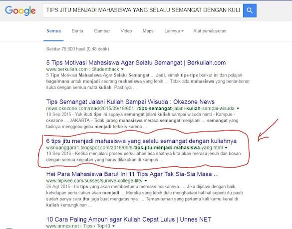 Cara Supaya Artikel Pada Blog Kita Muncul Di Mesin Pencarian Google