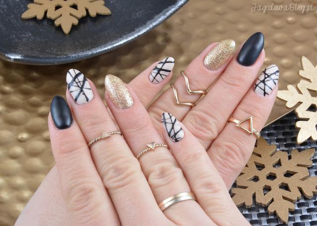 Jagodowa W świecie Lakierów Nail Art And Lacquers Sylwestrowo