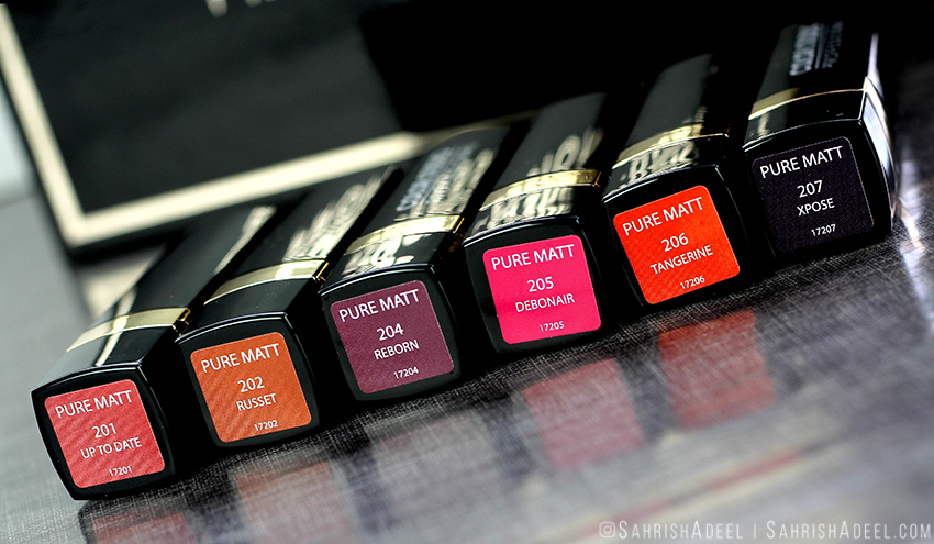 Pure Matt Lipsticks by Color Studio Professional - Review & Lip Swatches
