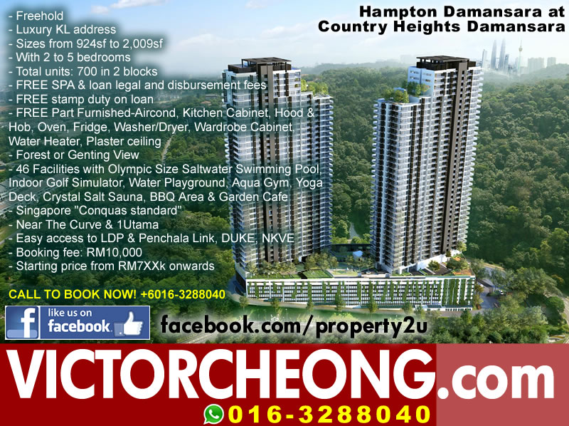 Hampton Damansara. Call Victor Cheong 016-3288040