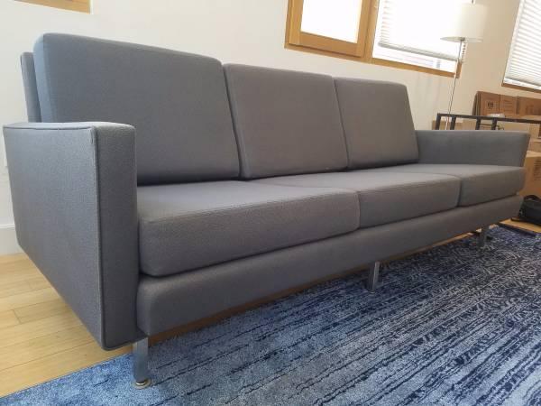 Mid Century Modernica Designer Gray Sofa
