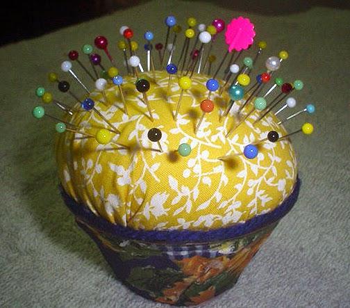 Alfineteiro cup-cake com pap