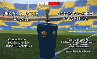 PES AZTK Patch V3 AIO For PTE Patch 2019 3.1