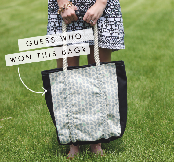 Guess Who WON the Hearts Fair Trade Tote Giveaway?