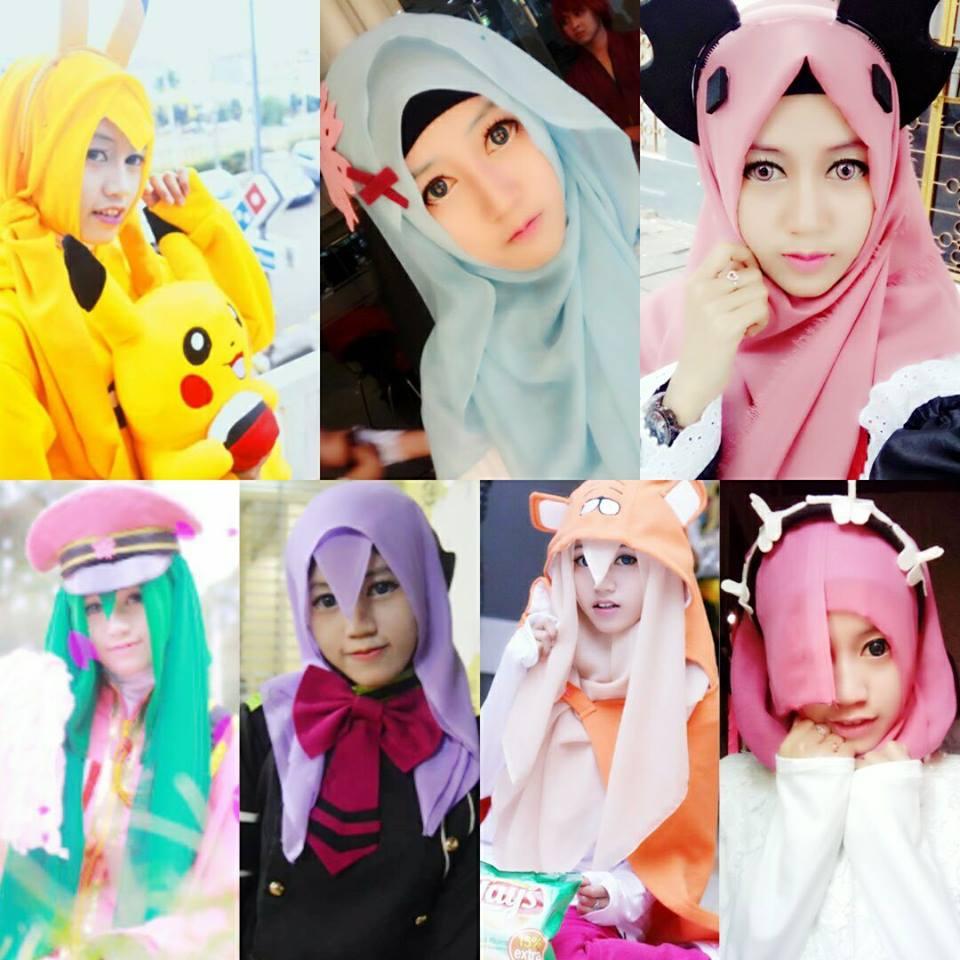 Tutorial Hijab Cosplay Untuk Wajah Bulat