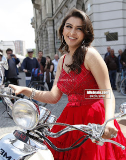 Hansika Motwani in lovely Red Mini Dress Dance Stills 15 .xyz.jpg
