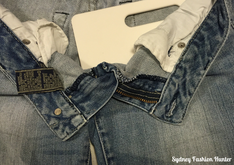 DIY Detroyed Jeans Step 5 - Prepare to cut