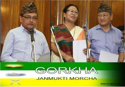 Hill MLAs Dr Rohit Sharma, Sarita Rai, Amarsingh Rai