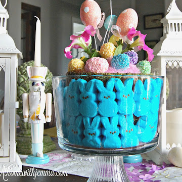 Peeps and Petunias Easter Centerpiece