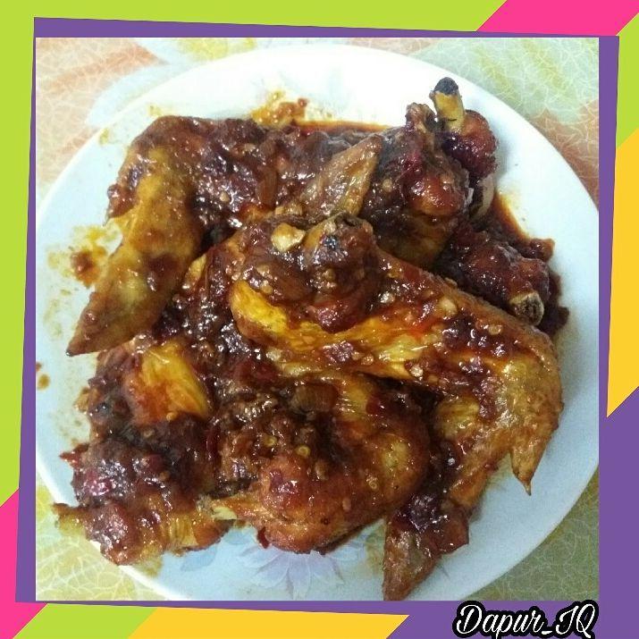 Sayap Ayam Kecap Pedas